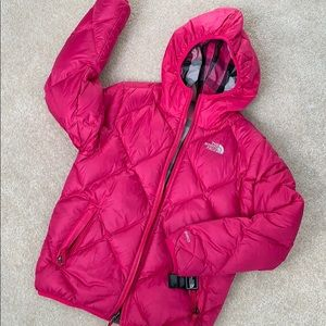 North Face reversible nylon/down jacket.
